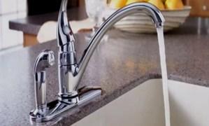 water tap running
