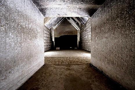 inside Teti's pyramid
