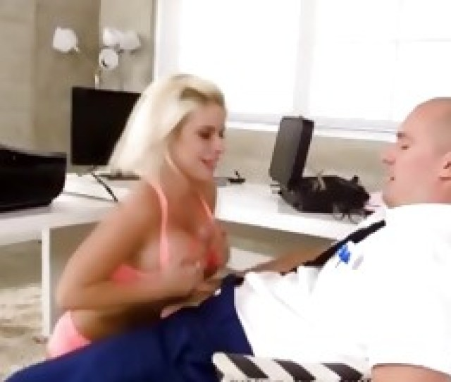 Big Titty Blonde Bimbo Giving Sneaky Blowjob Point Of View