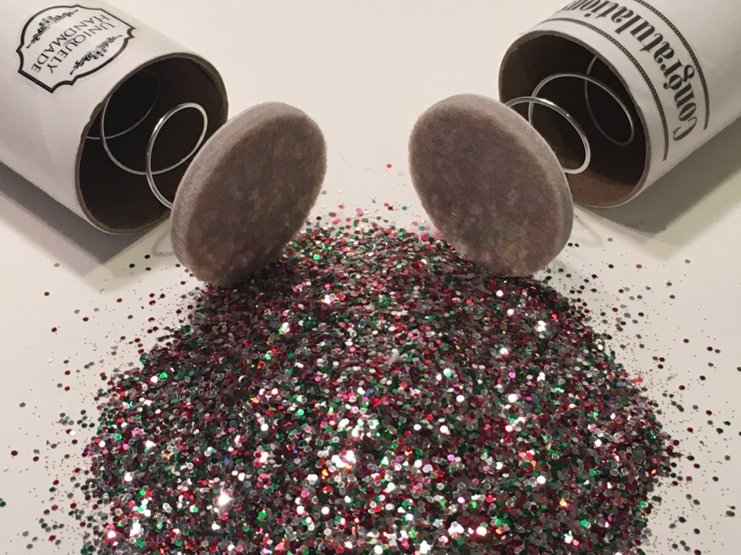Two Spring-Loaded Glitter Bomb