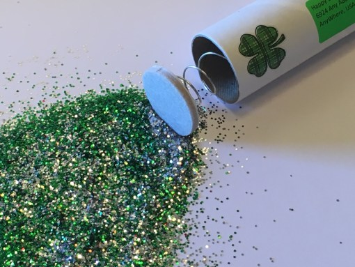 Custom St. Patrick's Day Spring Loaded Glitter Bomb