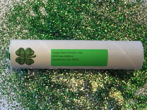 Closed Saint Patrick's Day Gag Gift Spring Loaded Glitter Bomb