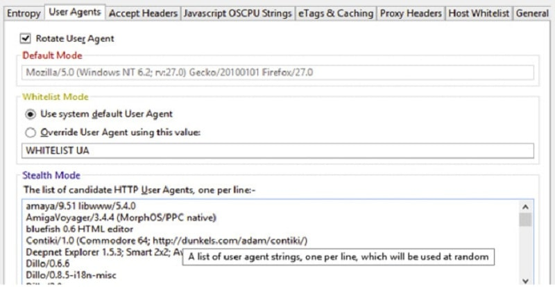 Get a slightly different user agent
