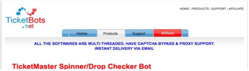 Ticketmaster Spinner Bot