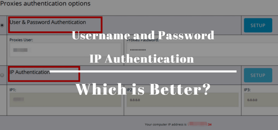 Username and Password or IP Authentication