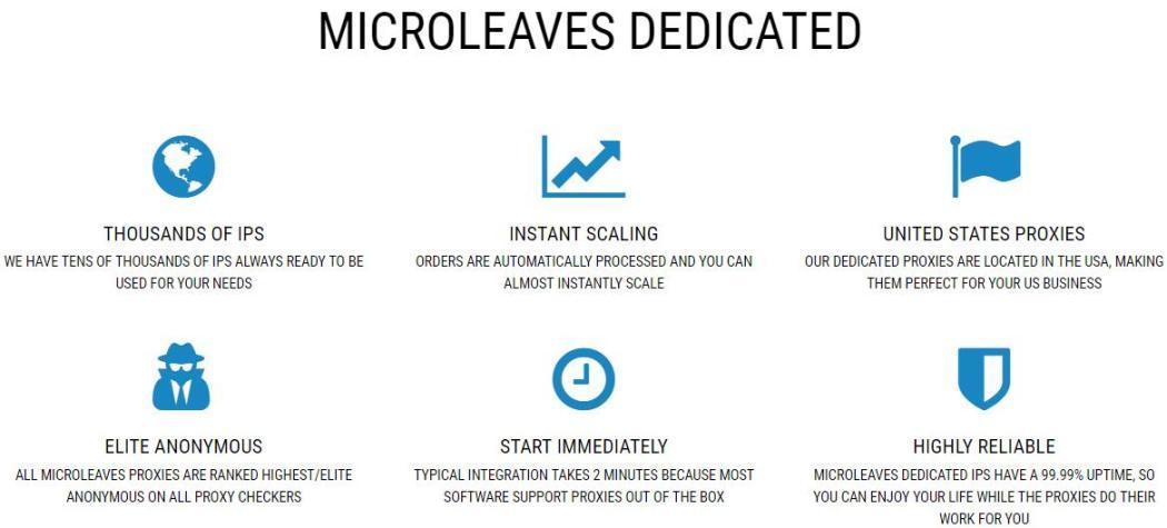 Microleaves dedicated proxies
