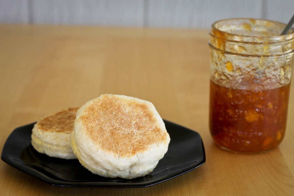Easy English Muffins and Jam