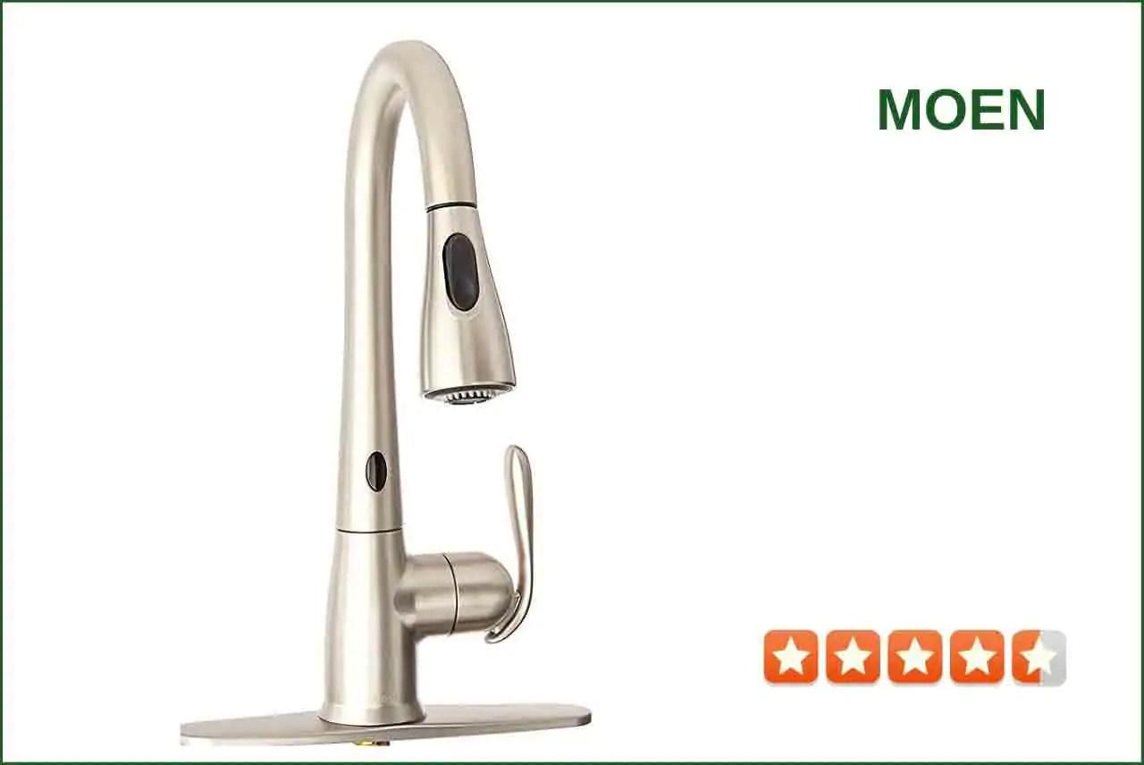 moen 87350esrs touchless kitchen faucet best reviews for kitchen