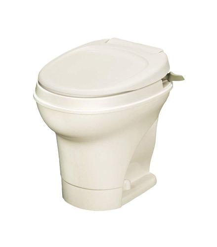 Thetford Parchment Aqua Magic V Hand Gravity Flush RV Toilet