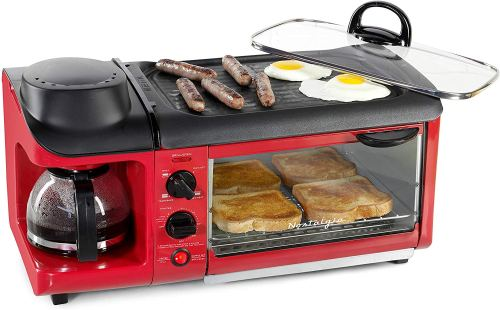 Nostalgia 3-in-1 Family Size Breakfast Station Multifunctional Cookers