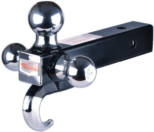 Towever Class III/IV Trailer Hitch Tri Ball Mount with Hook