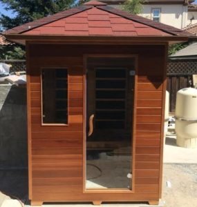 3 Person Outdoor Infrared Sauna w: Canadian Cedar