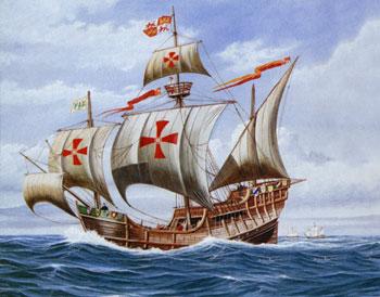 Christopher Columbus ship Santa Maria