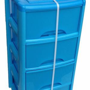 4 Draw Tower Unit Blue + Trans Blue Drawer