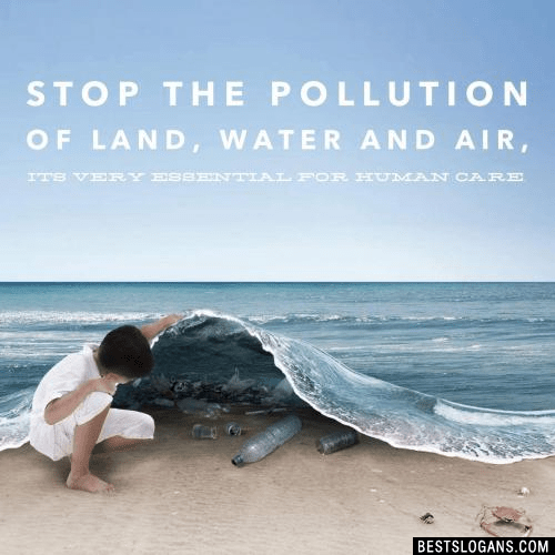 30 catchy stop water pollution slogans