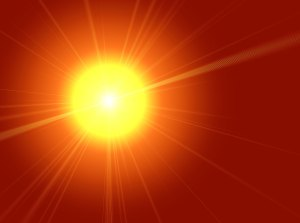 image of sun glare