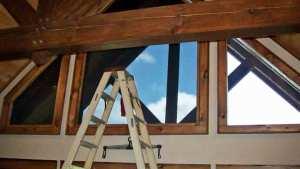 Best Solar Control ladder shown where working on high windows