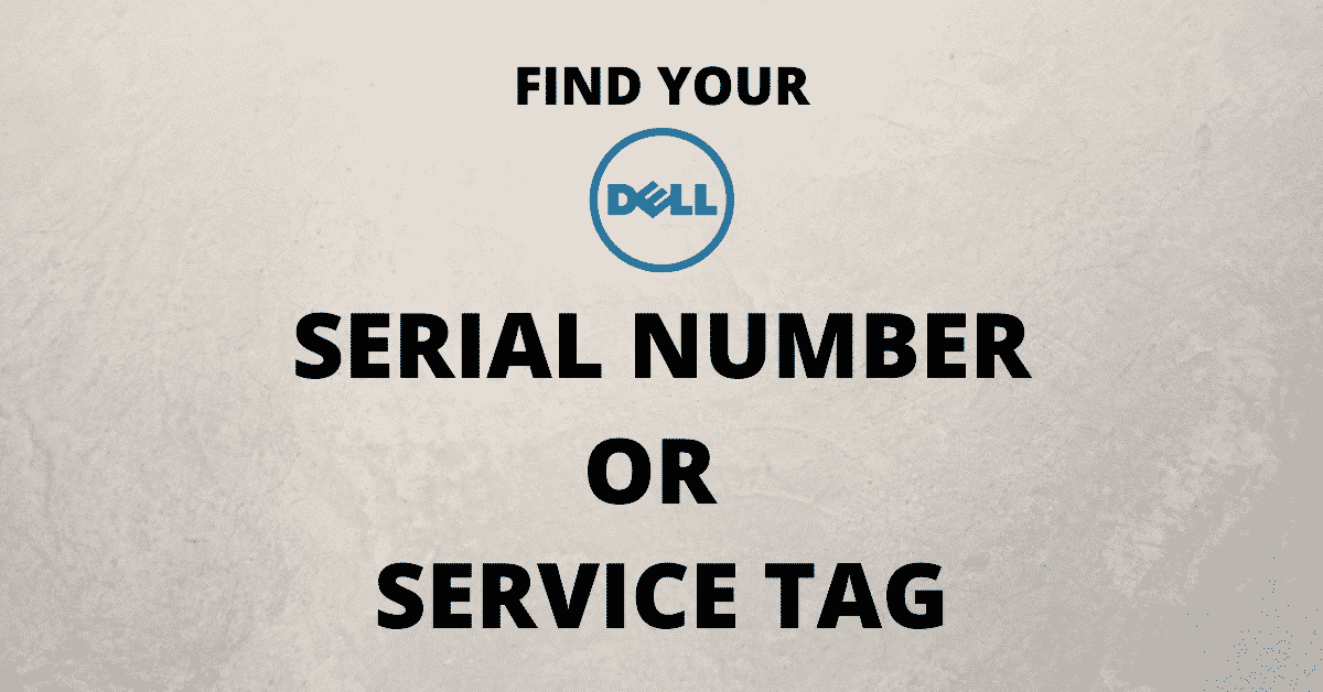 Dell Laptop Serial Number