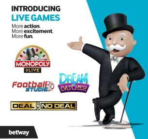 Betway Live Games – Monopoly Live and More