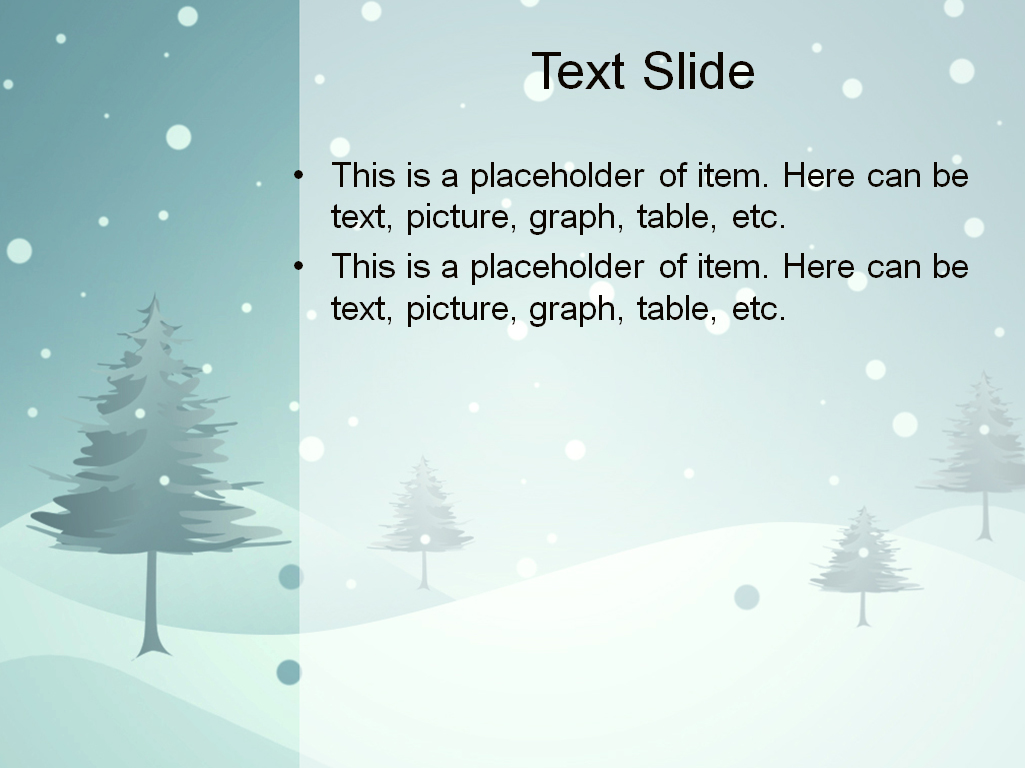 Winter Powerpoint Template. brilliant snowflakes vector. snowy sky ...