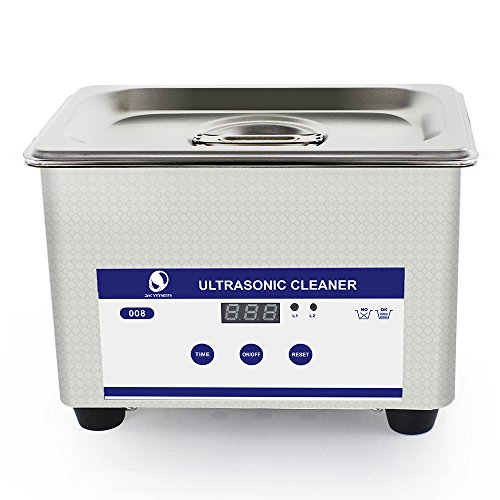 Skymen Professional Mini Ultrasonic Cleaner Bath JP-008 with Digital Timer 800ml 35W 40kHz