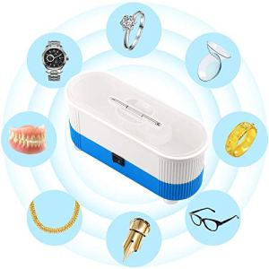 Ultrasonic Cleaner, Mini Cleaning Machine 300ml Tank with Eyeglasses Screws for Jewelry Eyeglass Watches Business Commercial Home Use