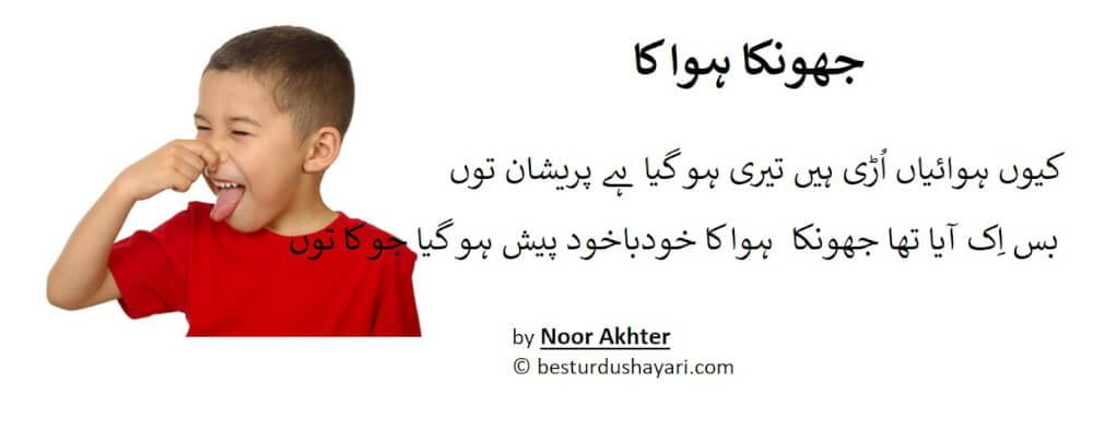 Funny Shayari in Urdu - Jhonka Hawa ka - ewww farting smell