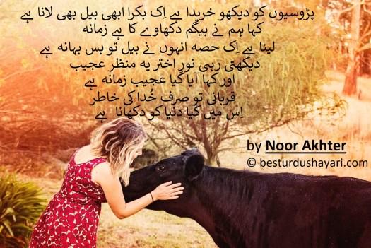 funny bakra eid poetry