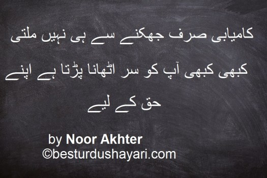 Quotes about success in Urdu
