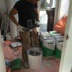 Cementgebonden gietvloer woonboerderij Vinkeveen