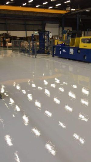 Industriële gietvloer Harderwijk 650 vierkante meter bestvloerrenovatie best building service
