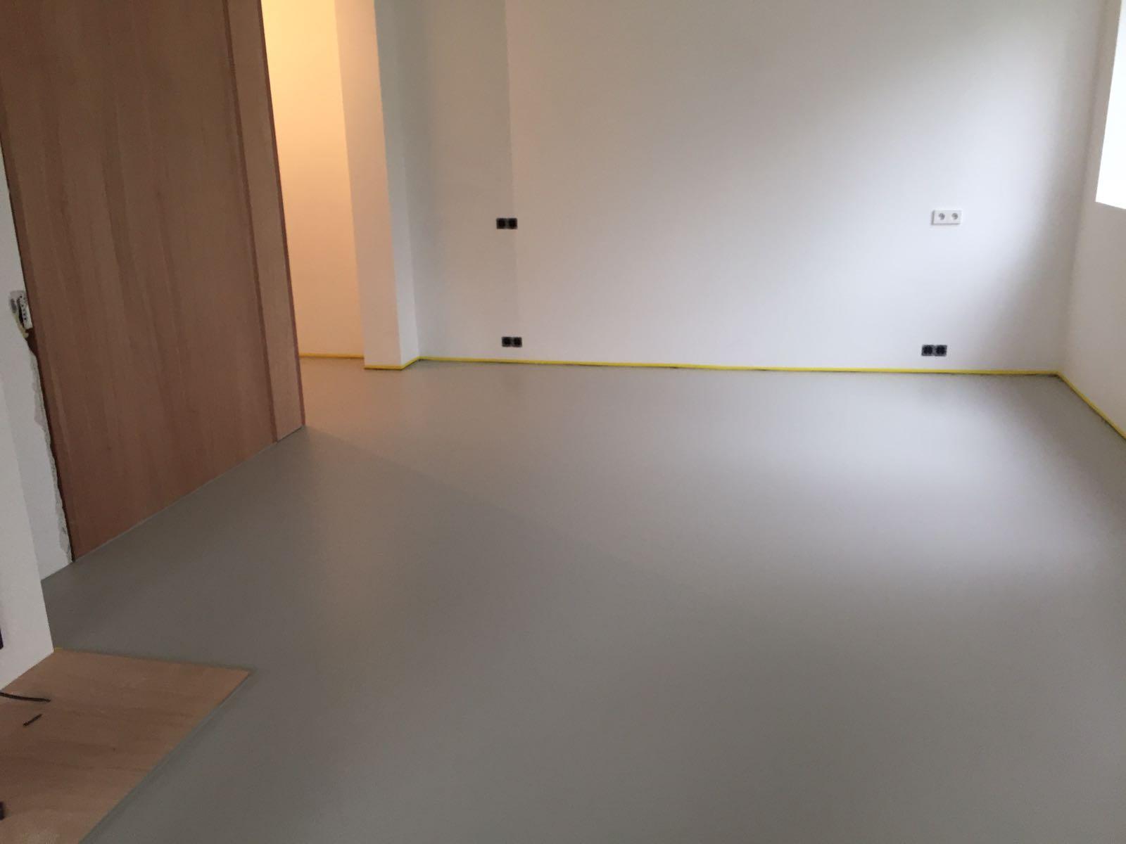 Pu gietvloer amsterdam 125 m2 best vloerrenovatie