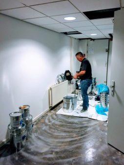 Epoxy gietvloer Jumbo Den Bosch
