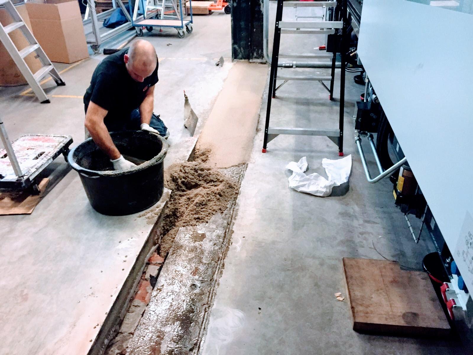 Betonvloer reparatie Wassenaar