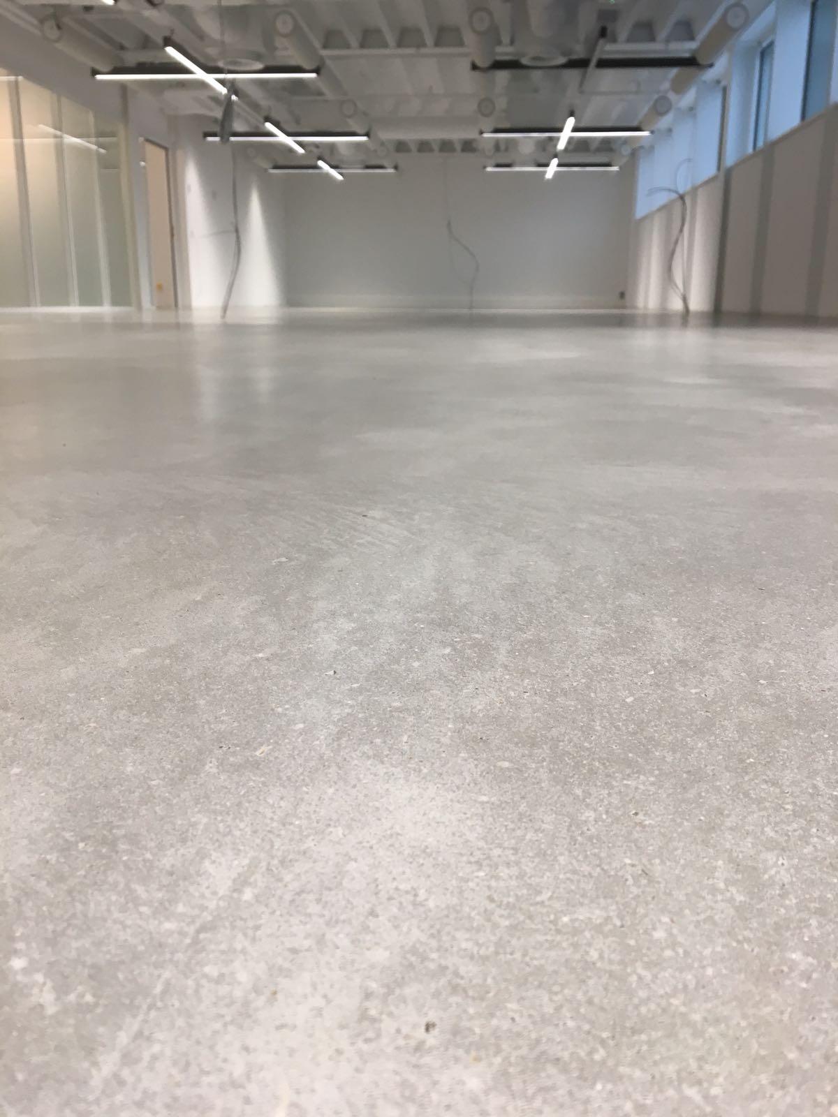 verregende betonvloer polijsten