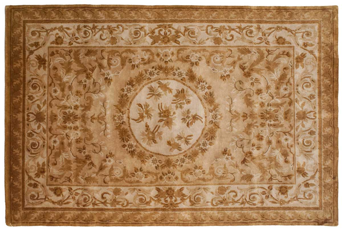 6 9 Aubusson Gold Oriental Rug 027929 Carpets By Dilmaghani