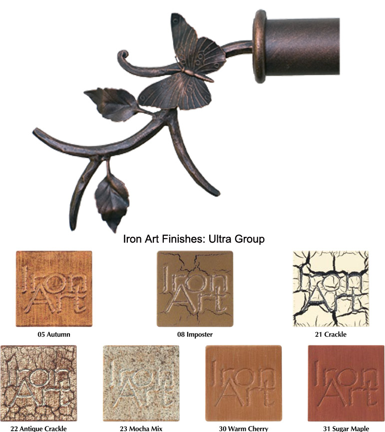 butterfly custom iron curtain rods ultra finishes bestwindowtreatments com