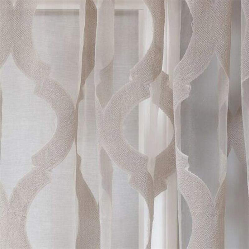Estelle Burnout Sheer Curtain Panel Large Scale Design
