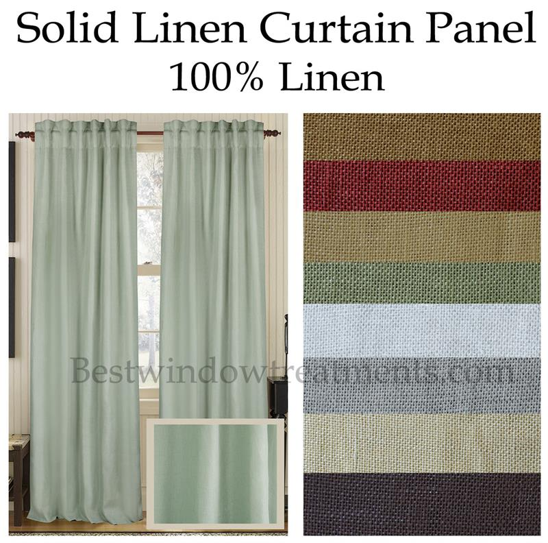 solid 100 linen curtain panel bestwindowtreatments com