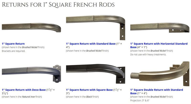 french 1 dia custom iron curtain rod wide spanning drapery rod bestwindowtreatments com