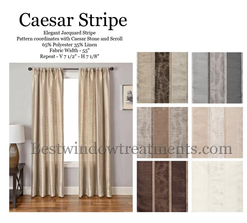 caesar stripe curtain panel available in 6 colors bestwindowtreatments com