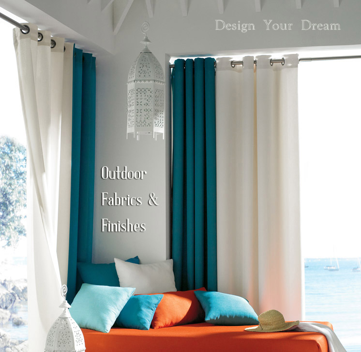 Outdoor Sunbrella Curtains And Dry Hardware