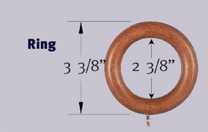 2 inch wood curtain ring bestwindowtreatments com