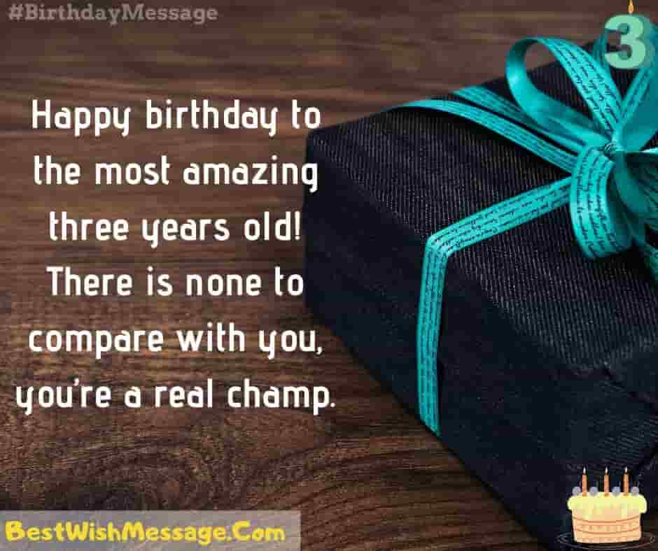 200 Happy 3rd Birthday Wishes And Messages For Kids