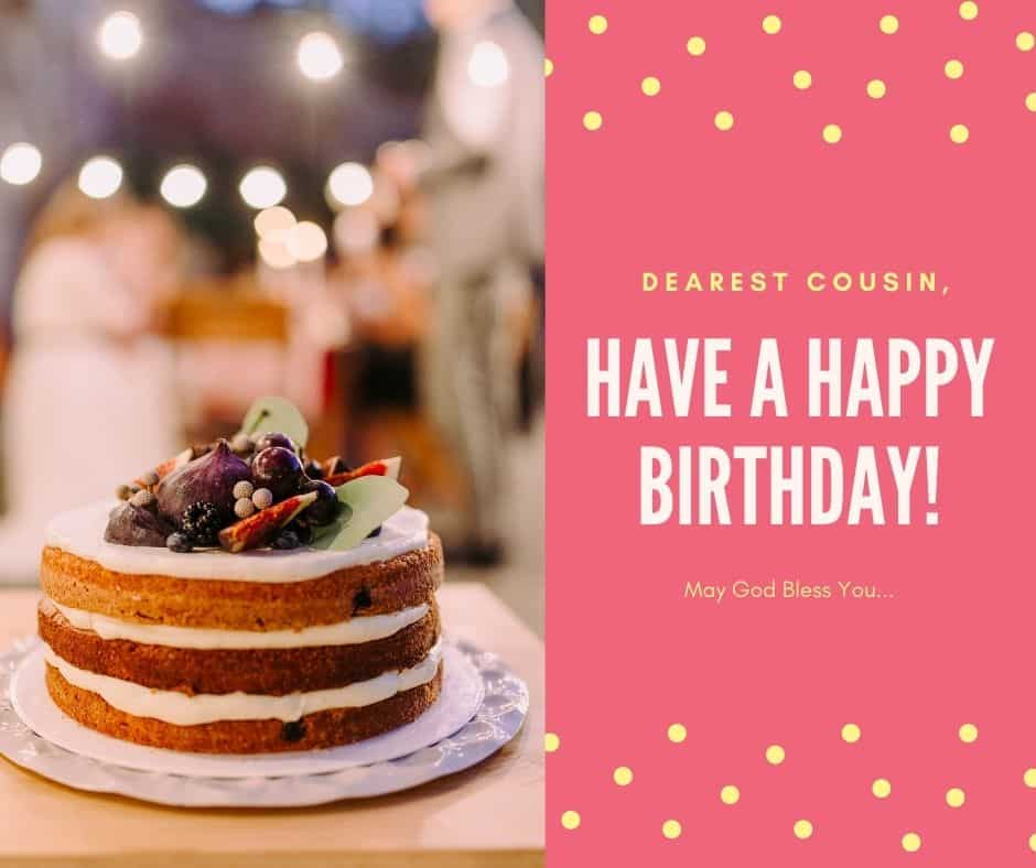 Religious Birthday Wishes For Cousin Female And Male