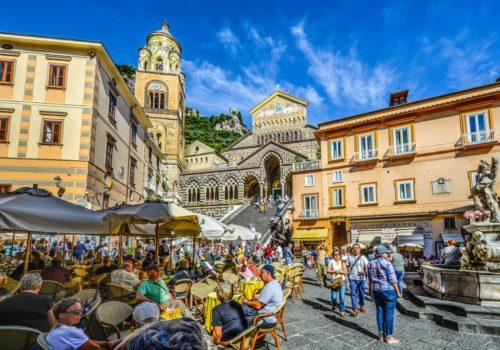 Amalfi piazza Italia - Recensione zaino Tigernu