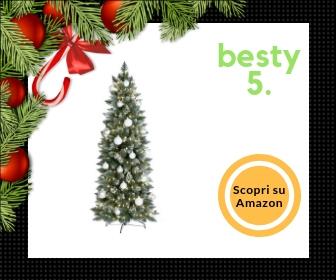 Fairy Trees artificiale, albero di Natale slim con vere pigne