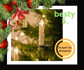 Luci di Natale a candela della Lights4Fun – Le luci natalizie per un'atmosfera classica