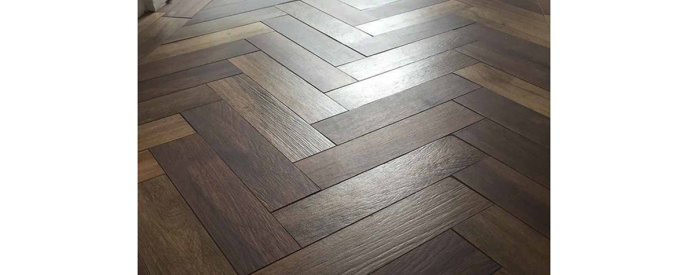 parquet wood look porcelain floor tiles