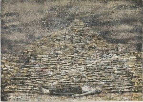 Man Under A Pyramid, 1996, Anselm Kiefer